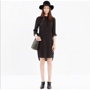 Madewell long sleeve tunic dress dots size S